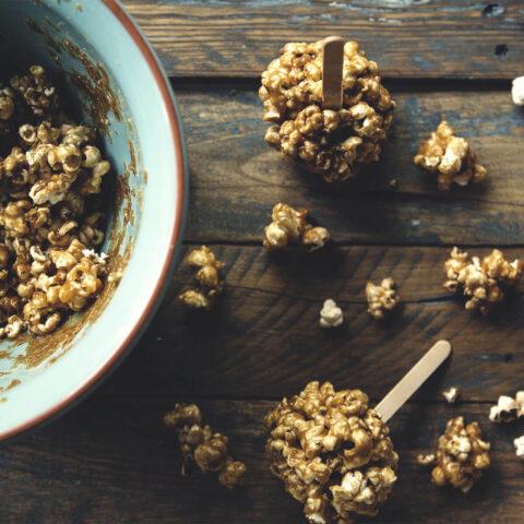 Balsamic Caramel Popcorn Balls