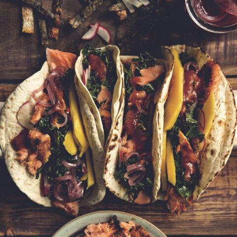 Blackened Salmon Tacos