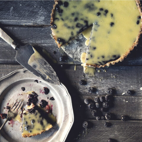 Blueberry Custard Tart