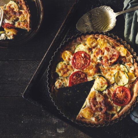 Caramelized Onion Tomato Tart