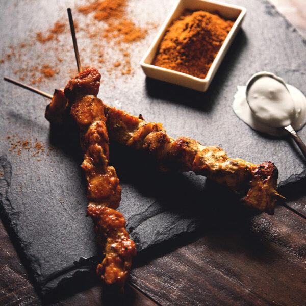 Curry Chicken Brochettes